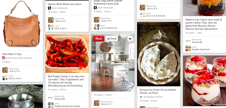 Pinterest example boards